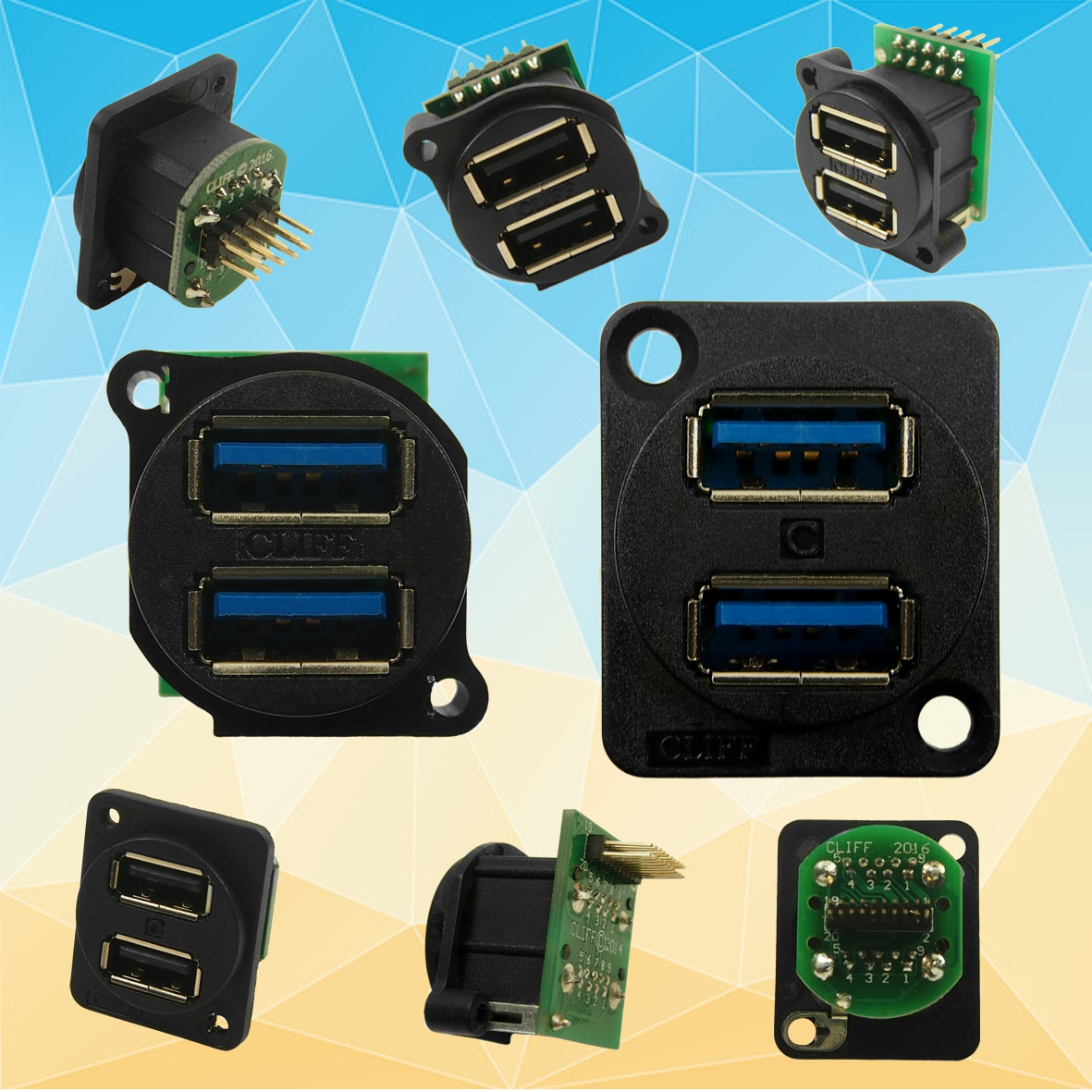 Cliff Electronic Components News Dual Usb2 And Usb3 Sockets In Wiring Xlr Audio Musical Theatre Electronics Introduces Usb 2 An Shell