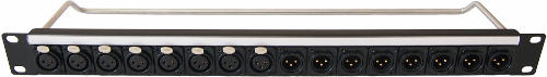 1U mounting rack panel with XLR sockets CP30183